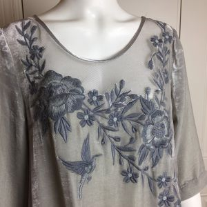 Sundance | Embroidered Top | Size Large